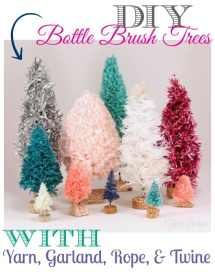 DIY bottle brush tree tutorial, featured by top US craft blog, Fynes Designs |Bottle Brush Tress by popular Canada DIY blog, Fynes Designs: Pinterest image of bottle brush trees.