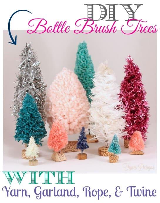 DIY bottle brush tree tutorial, featured by top US craft blog, Fynes Designs