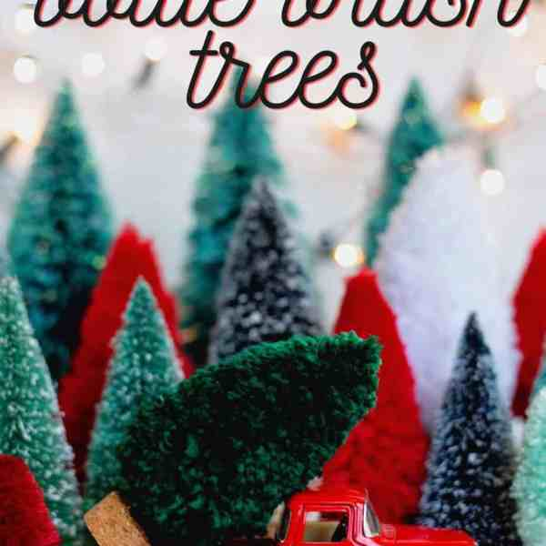 Get everything at the dollar store to make these fun Christmas trees