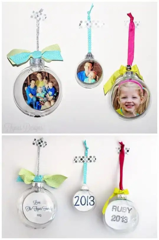 Photo Glass Ornament tutorial, easily done, makes a great #gift or keepsake