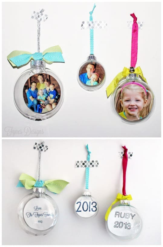 DIY Glass Photo Ornament, a tutorial featured by top US life and style blog, Fynes Designs: Photo Glass Ornament tutorial, easily done, makes a great #gift or keepsake