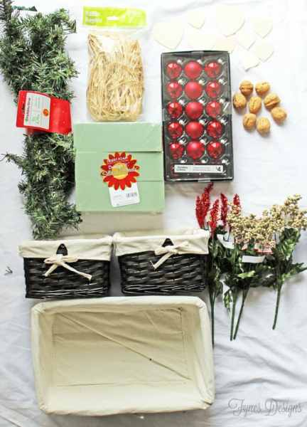 Walmart holiday supplies to create an easy Holiday Centrepiece #cbias