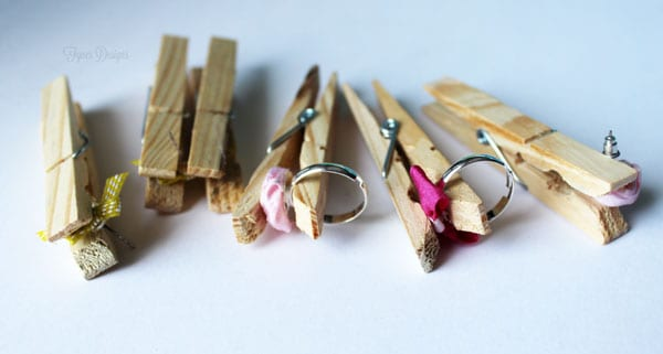 hold the pieces together with a clothespin while the glue dries