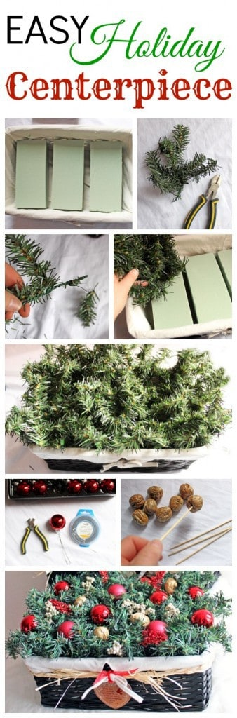 How to create an easy Holiday Centrepiece #cbias