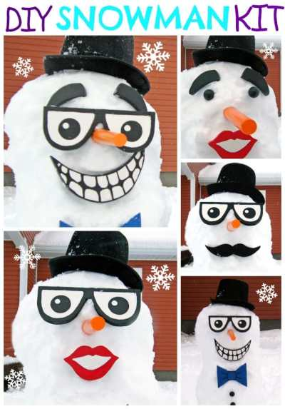 Make this Easy Snowman Kit- Loads of winter FUN!