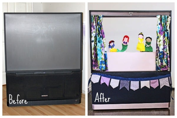 Create an awesome puppet theatre from an old big screen TV