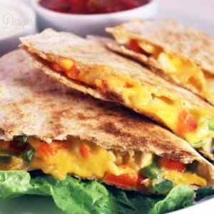 Easy Cheesy Chicken Quesadillas from fynesdesigns.com