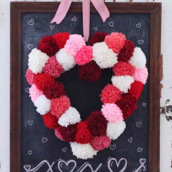 How to make a heart shaped wreath for only $2, a craft featured by top US craft blog, FYNES DESIGNS
