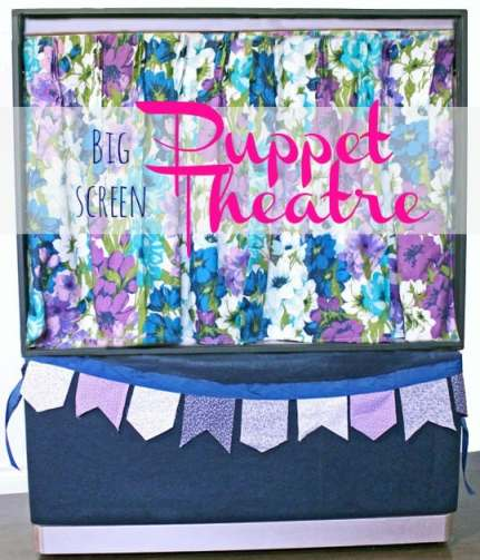 Create an awesome Puppet Theatre from an old big screen TV #kids #TV #puppet #puppetshow #modernmasters