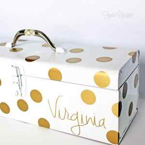 An old tool box converted into a cool scrapbooking / project life storage box via fynesdesigns.com
