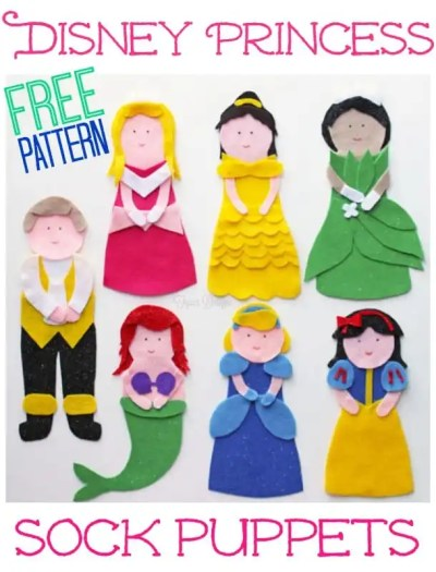 NO SEW Princess Puppets featured by top US life and style blog, Fynes Designs.