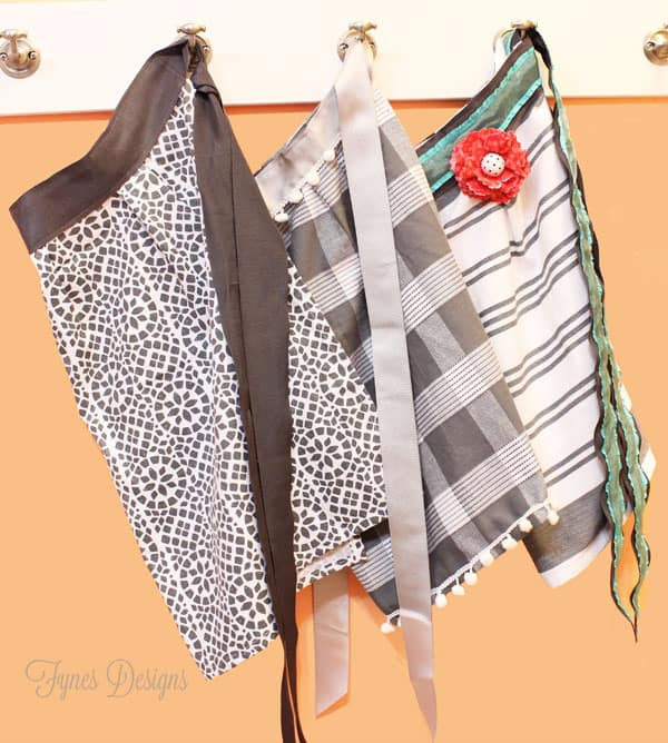 Perfect Beginner project. Create these Easy Dishtowel aprons and you'll feel like a pro!