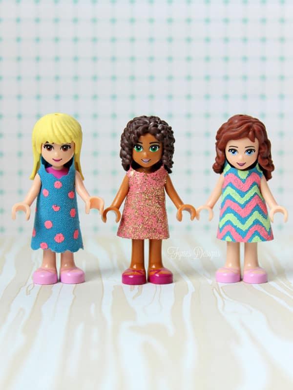 Lego Friends Dresses Free Template