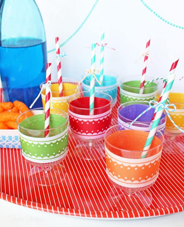 Party Idea- Decorated Plastic Cups