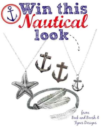 Win 4 nautical inspired pieces from beckandboosh.com enter to #win