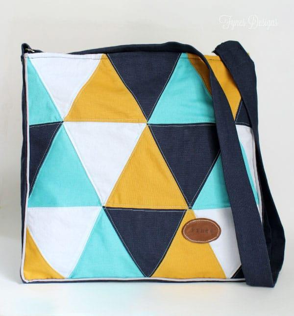 Cross Body Triangle Tote Bag