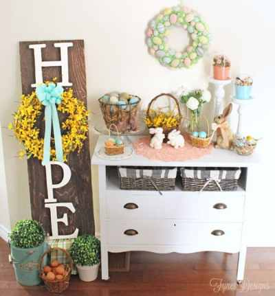 Hope Easter sign #easter #hope#wreath #yellow #mayartsribbon
