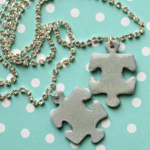 Puzzle necklace for Autisum Awareness