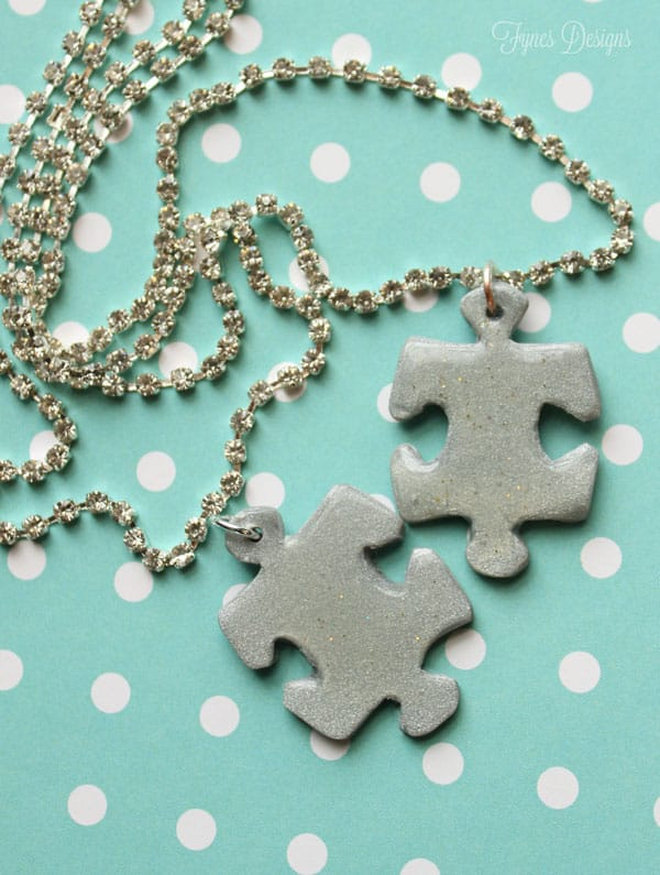 Puzzle Piece Necklace for Autism Awareness Day