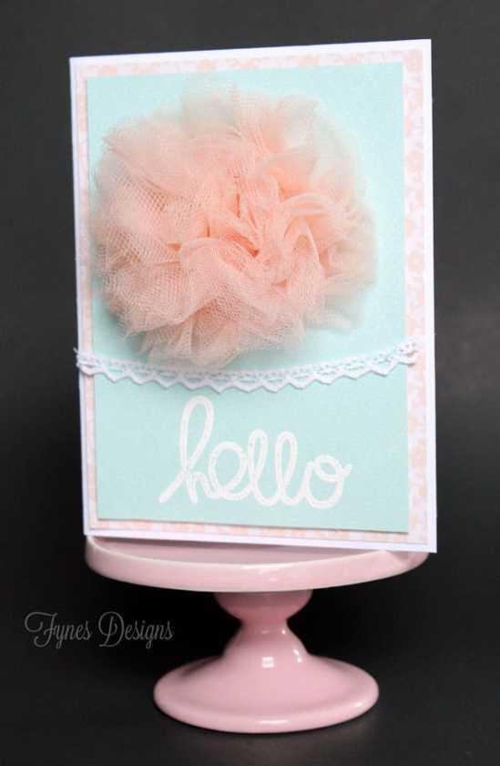 Tulle flower gift card idea
