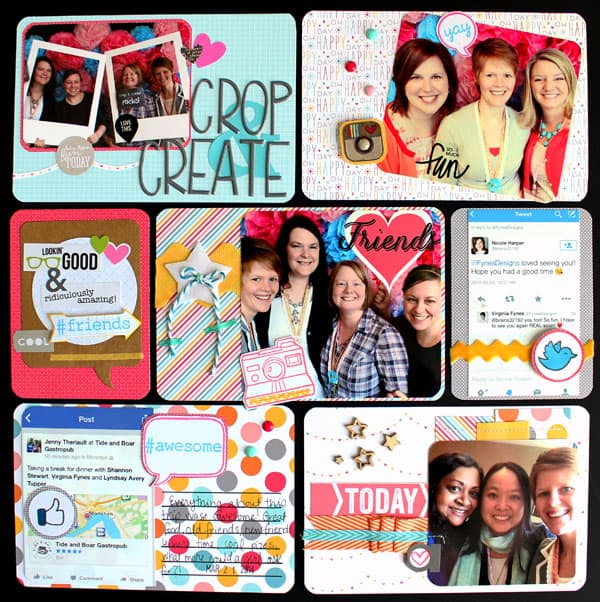 crop and create Project life layout #lawnfawn #mayartsribbon