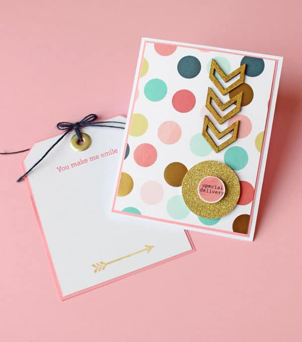 Easy Handmade greeting card with a free template- perfect for earings, gift-cards, necklaces, or just kind words