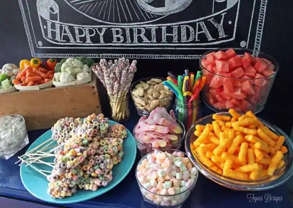 Simple Birthday party snack ideas