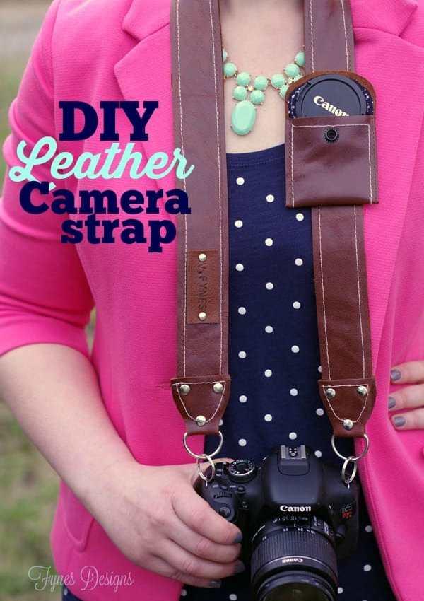 DIY Leather Camera Strap Free Pattern