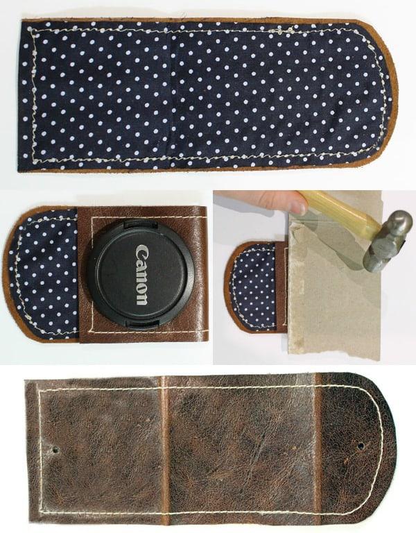 Create a lens cap pocket for your cameras strap