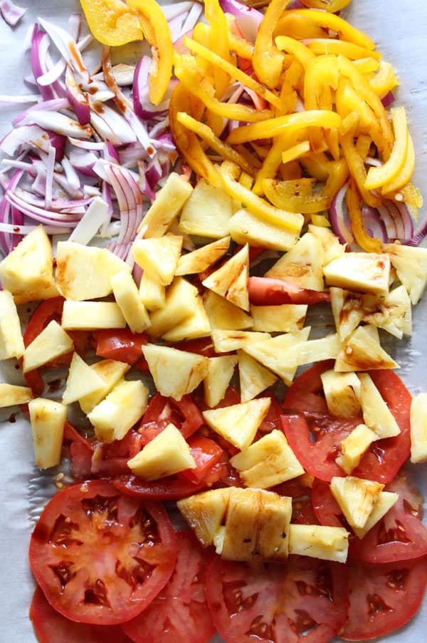 Roast fruit and veggies with Balsamic vinegar for an interesting flavor