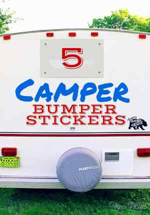 5 fun Camper Bumper Sticker ideas - FREE silhouette cut files to make your own!