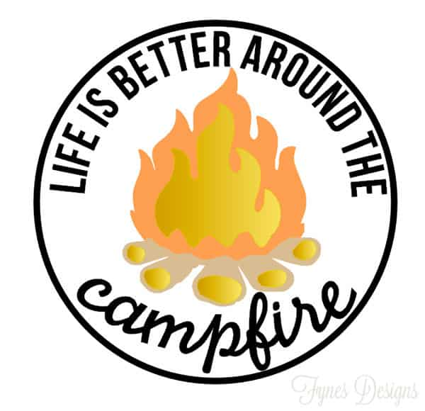 Camping Decals with Free Silhouette Cut Files