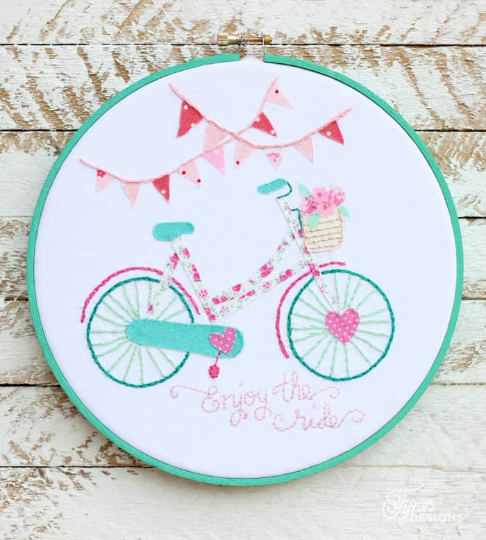 Bicycle Hoop Art