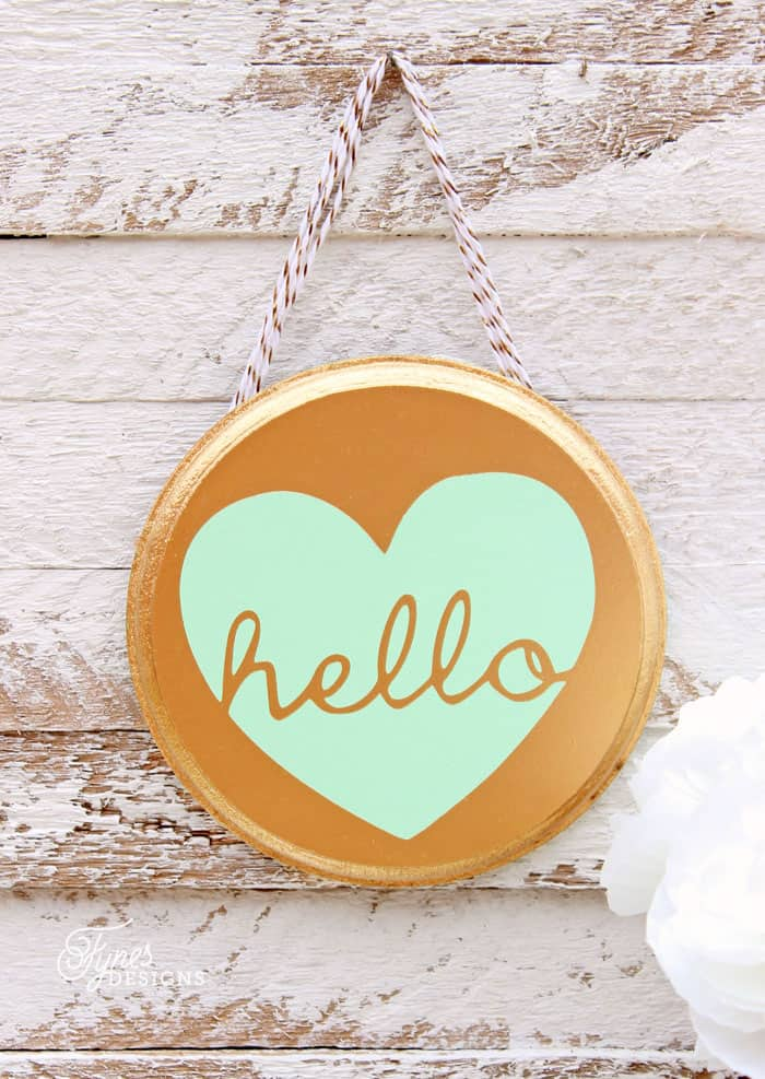 Hello spray painted art. Free Silhouette cut file