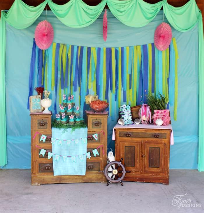 Mermaid birthday party decorating ideas