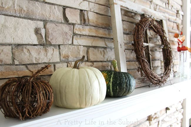 Fall mantel from A Pretty Life in the Suburbs