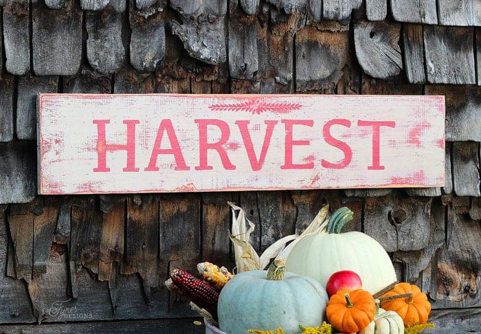 Rustic Harvest Sign