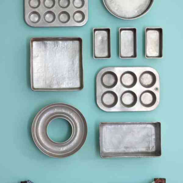 Baking pan gallery wall from Fynes Designs