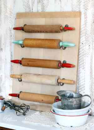 Easy DIY Kitchen Rolling Pin Wall Art