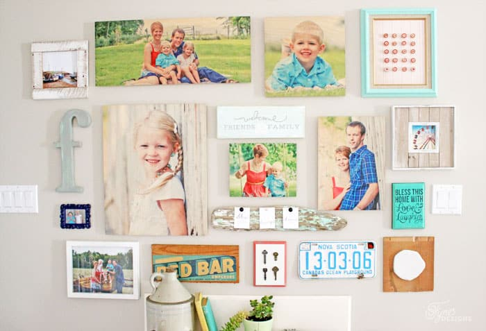 Make an Easy Gallery Wall with Shutterfly Design-A-Wall Tool