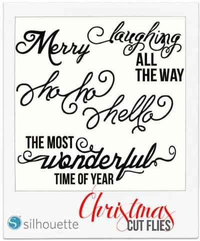 FREE Silhouette Christmas Phrase Cut File