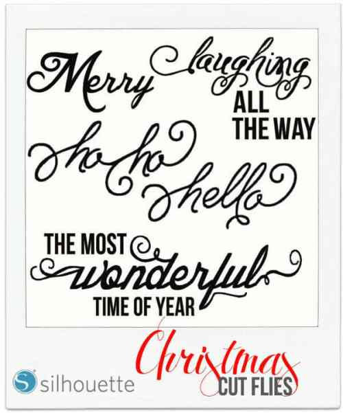 FREE Silhouette Christmas Phrase Cut File