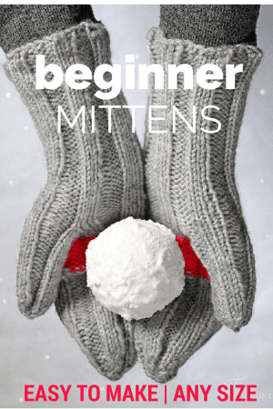 Beginner mittens knitting tutorial, featured by top US life and style blog, Fynes Designs