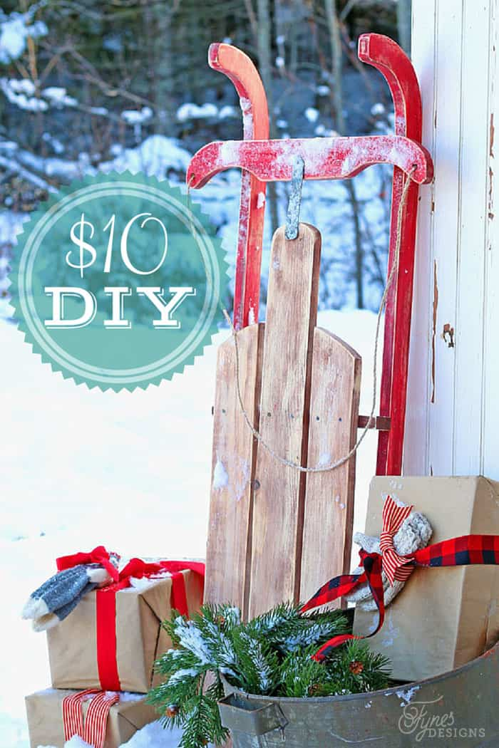 Easy to build $10 Vintage Sled, a tutorial featured by top US life and style blog, Fynes Designs.