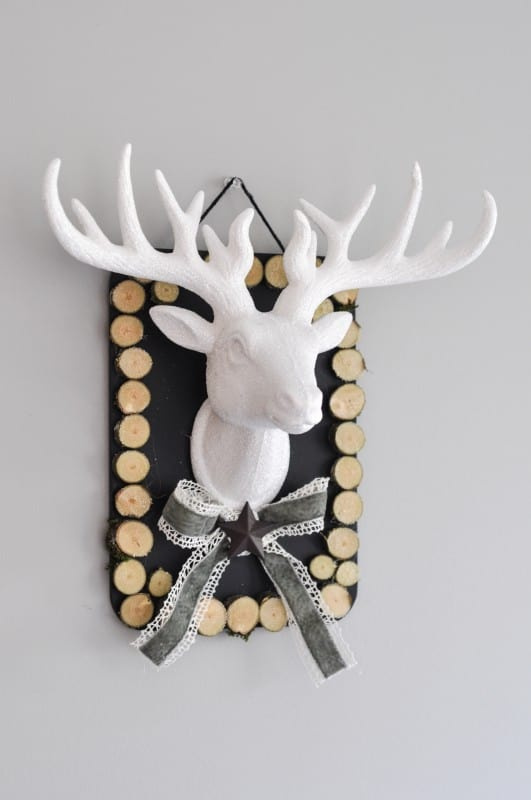 Rustic Deer Head plaque from suburble.com eatured by top US craft blog, Fynes Designs