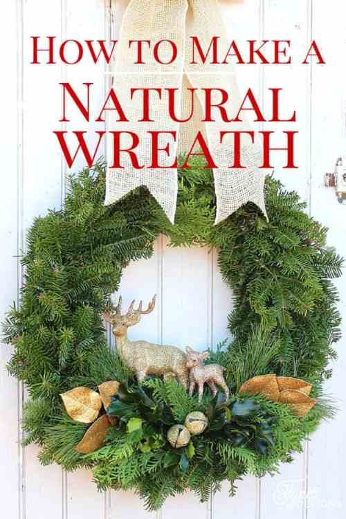 Easy to follow tutorial - How to make a natural Christmas wreath, a tutorial featured by top US life and style blog, Fynes Designs
