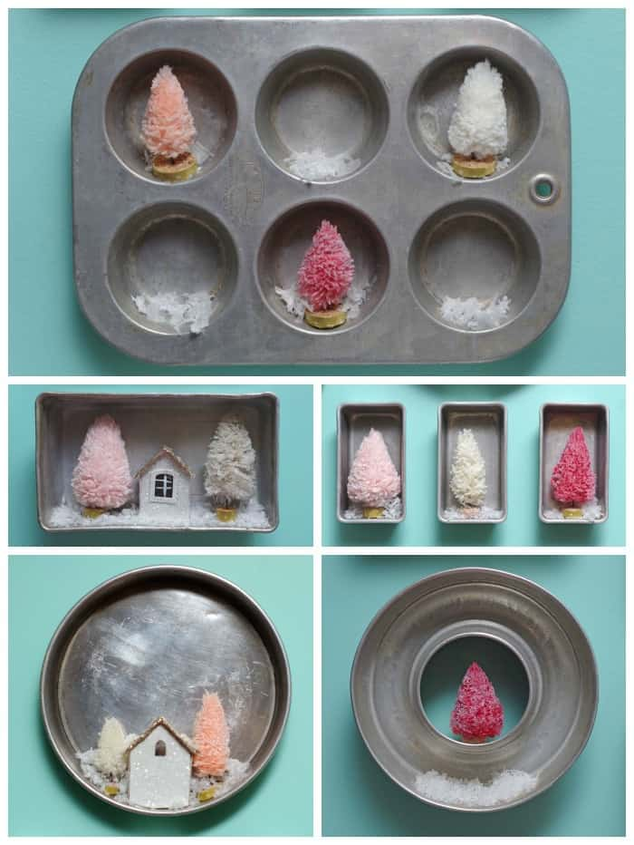 Christmas kitchen baking pan gallery wall