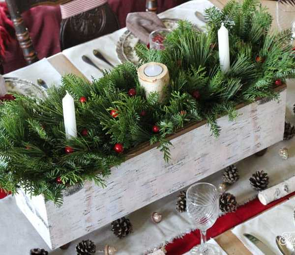 Christmas Table Centrepiece- One Item Challenge