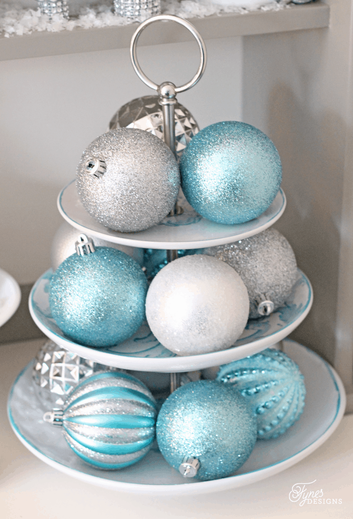 Beautiful Christmas hutch decor