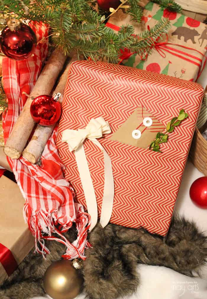 How to make a pocket on your gift wrap to hold a card